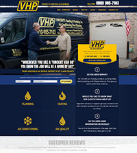 HVAC website - Vincent's Heating & Plumbing in Port Huron, MI - (888) 985-7103 - is an example of a PagePilot HVAC website design