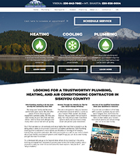 Plumbing website - SVM Plumbing, Heating & Air, Inc. in Yreka, CA - (530) 842-7862 - is an example of a PagePilot HVAC website design