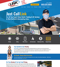 HVAC website - Link Mechanical in New Britain, CT - (860) 826-5880 - is an example of a PagePilot HVAC website design